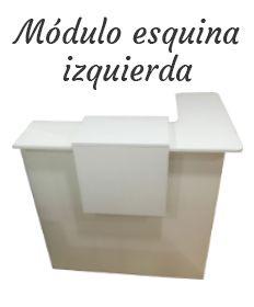 Mostrador Basic, módulo esquina izquierda
