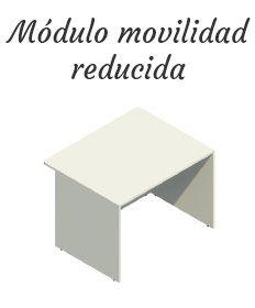 Mostrador Basic, módulo movilidad reducida