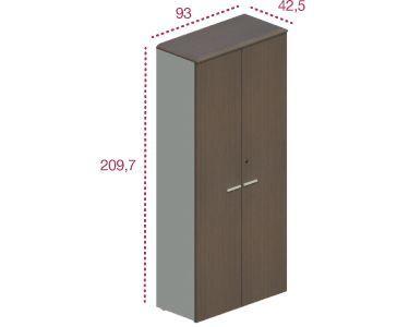 Medidas armario alto con puertas para las series benelux y líder