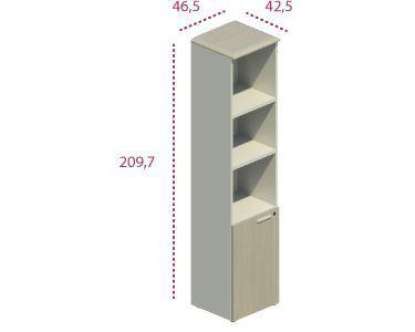 Medidas armario alto estrecho con puerta baja