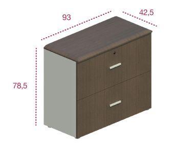 Medidas armario bajo archivador de las series Benelux y Líder.