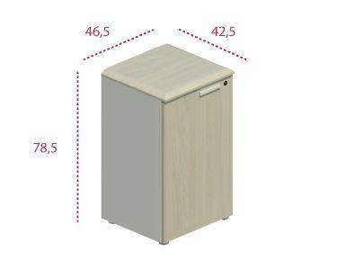 Medidas armario bajo estrecho con puerta serie Benelux y Líder