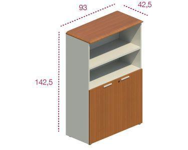 Medidas armario de oficina con puertas bajas para las series Benelux y Líder