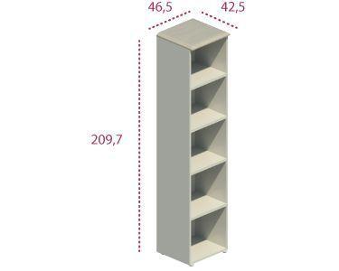 Medidas estantería alta sin puertas serie Benelux y Líder