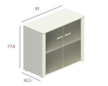 Medidas armario bajo con puerta de cristal