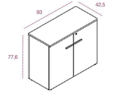 Medidas armario bajo con puertas