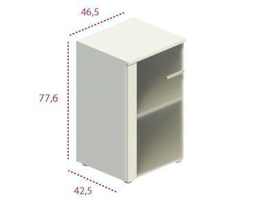 Medidas armario estrecho con puerta de cristal