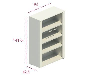 Medidas armario mediano con puertas de cristal
