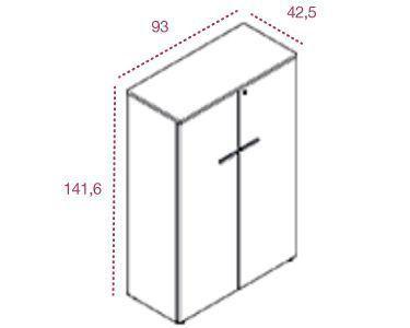 Medidas armario mediano con puertas y cerradura