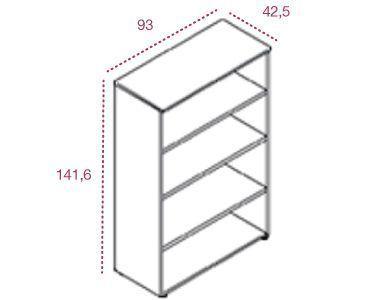 Medidas armario mediano sin puertas