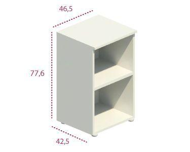 Medidas estantería estrecha sin puertas