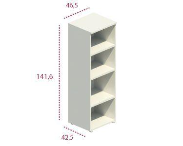 Medidas estantería estrecha mediana sin puerta