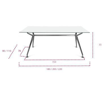 Medidas Mesa B-table Design transparente