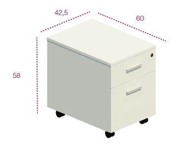 Medidas cajonera 1 cajón + archivo