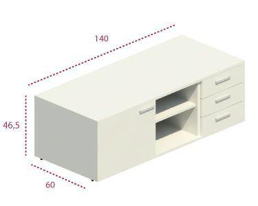 Medidas mueble auxiliar operativas