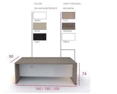 Medidas de la mesa de oficina G3