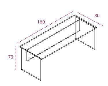 Medidas mesa de oficina de stock