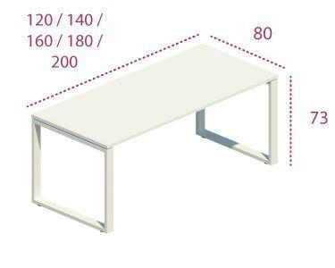 Medidas mesa de despacho Skala