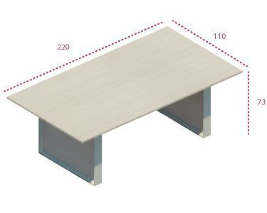 Medidas mesa de sala de juntas de la serie Omega