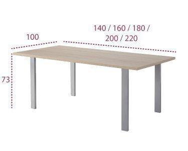 Medidas mesa de reunión serie Pórtico