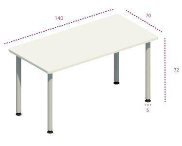 Medidas mesa rectangular polivalente