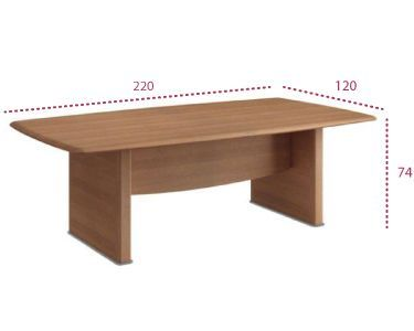 Medidas mesa sala de juntas Benelux 220 cm.