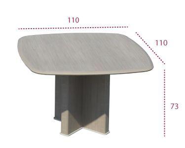 Medidas mesa de reunión cuadrada de la serie Benelux