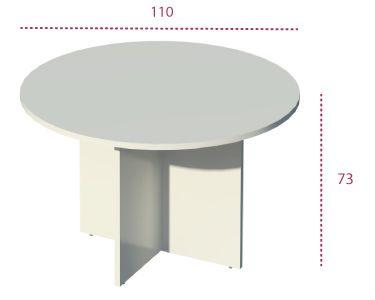 Medidas mesa de reunión redonda de la serie Color