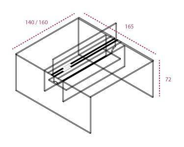 Medidas bench pie panel con separador