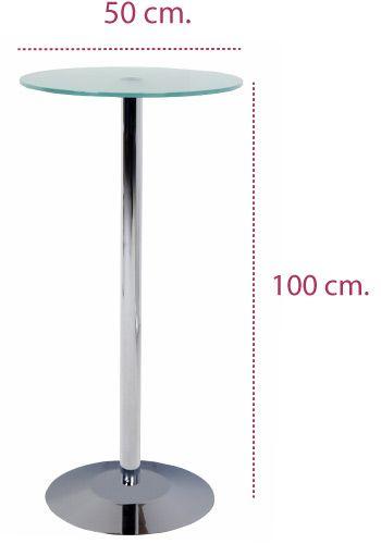 Medidas mesa alta de cristal taburetes de rocada