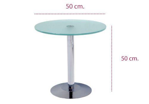 Medidas mesa baja de cristal para sala de espera de rocada