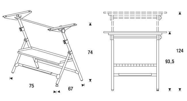 Medidas mesa de dibujo 175 de rocada