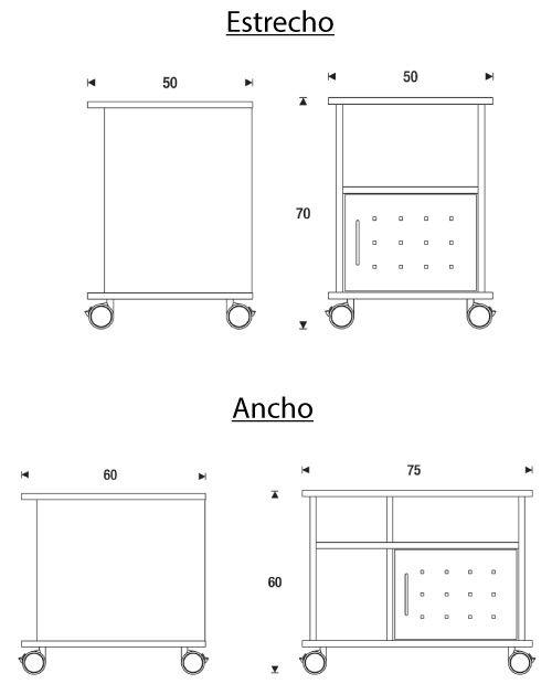 Medidas mueble multifunción de rocada