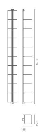 Medidas librería de pared Usio de systemtronic