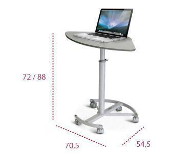 Medidas mesa portátil auxiliar mep 01 02 de systemtronic