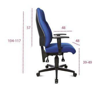 Medidas silla de oficina lady sitness entrega rápida