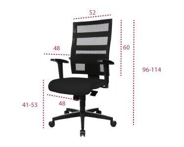 Medidas silla de trabajo x-pander envio rapido