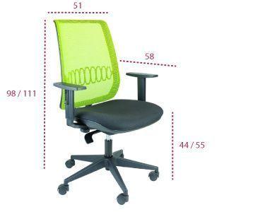 Medidas silla ergonómica Aida de tecno ofiss