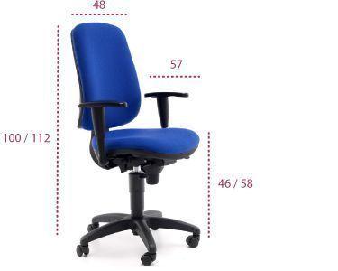 Medidas silla oficina anthea de tecno ofiss