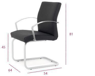 Medidas sillón confidente astor patín de tecno-ofiss