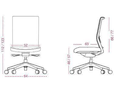 Medidas sillón despacho Astor