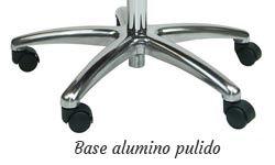 Base aluminio pulido.