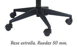 Base piramidal nylon negro con ruedas 65mm. estándar