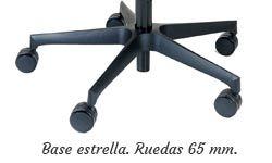 Base estrella nylon con ruedas grandes