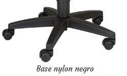 Base nylon negro con ruedas 50mm. estándar