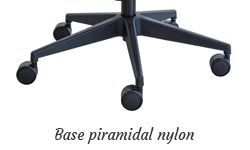 Base piramidal nylon negro con ruedas 65mm. estándar