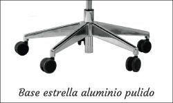 Base estrella aluminio pulido con ruedas grandes de tecno ofiss