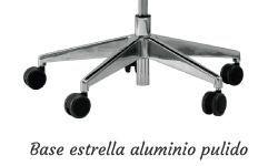 Base estrella aluminio pulido.