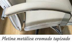 Brazos pletina metálica cromado tapizado