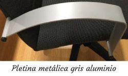 Brazos pletina metálica gris aluminio